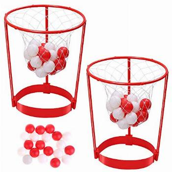 2 Pack Head Hoop Basketball Party Game for Kids and Adults
