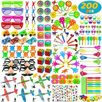 200 PCS Party Favors Toy Assortment for Kids,Carnival Prizes