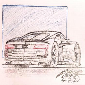 Audi R8 Completed my submission for the Audi R8 challenge. Let me see yours @sign @jennifer.harned