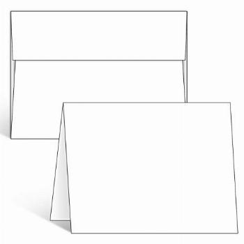 Blank White Cards and Envelopes 100 Pack, Ohuhu 5 x 7