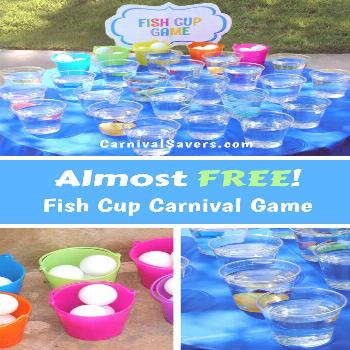 Check out this Almost Free Carnival Game idea! Great for carnival themed birthday parties, backyard