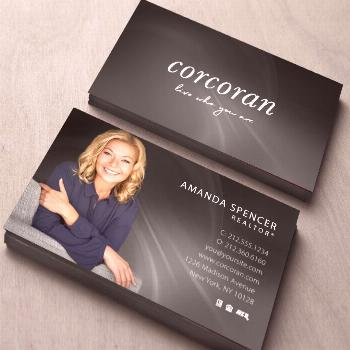 Corcoran Business Cards. Realty Business Card Templates.  Online Design and Printing Services for R
