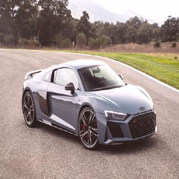 Download wallpapers Audi R8, 2019, gray sports coupe, new gray, tuning R8, racing car, German sport