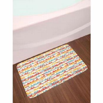 East Urban Home Ambesonne Cars Bath Mat by, Modern City Life Theme with Building...,   East Urban H