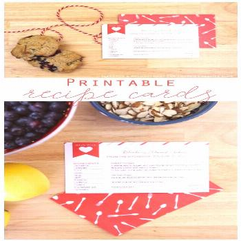 Free Printable Recipe Cards   free printables for easy homemade gift ideas. Designed by Elegance &