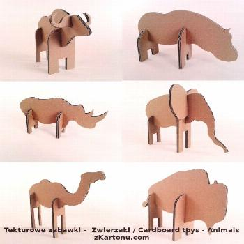 Fun cardboard animals you can make out of used moving boxes!