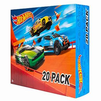 Hot Wheels 20-Car Pack of 1:64 Scale Vehicles, Gift for