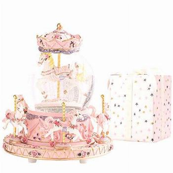 LOVE FOR YOU Carousel Horse Music Box Color Changing LED