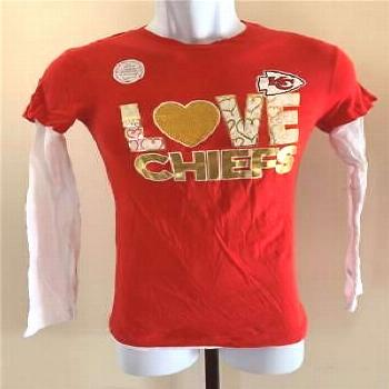 New Minor Flaw Kansas City Chiefs Youth Size L Red NFL Team Apparel Shirt (ebay link)