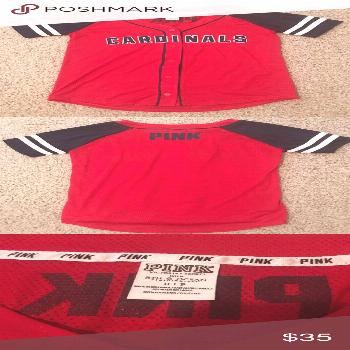 PINK Cardinals Baseball Jersey Size Small. Only worn to one baseball game  grea ... PINK Cardinals