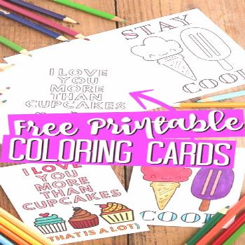 Print these and let the kids color then mail off to someone that needs a pick me up! Great for gran