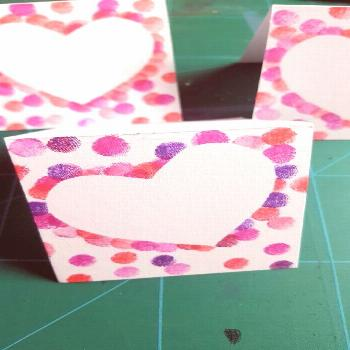 Stamp cards with hearts -  DIY stamp cards with hearts for Valentine's Day, Mother's Day – craft