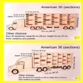 Toy Car Storage 20-42 sections, Shelf, Garage for Hot Wheels, Matchbox Toy Cars, Truck Displa... To