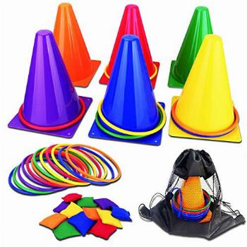 unanscre 31PCS 3 in 1 Carnival Outdoor Games Combo Set for