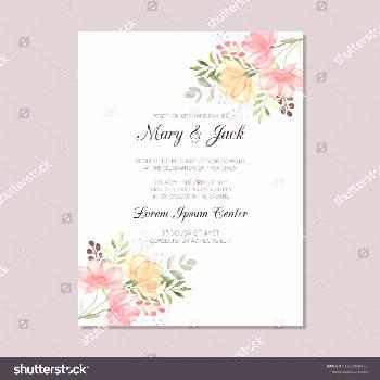 Wedding invitation template with watercolor flowers, thank you card, save the date cards, baby show