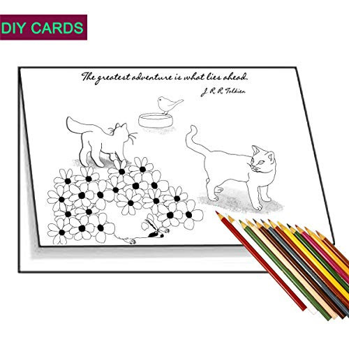 Bulk Blank Note Cards with Envelopes Box Set of 48 ,