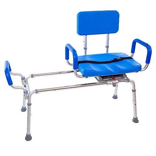 Carousel Sliding Transfer Bench with Swivel Seat-BARIATRIC