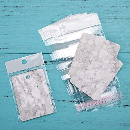 Earring Cards Set, 100 Pcs Paper Earring Display Cards with