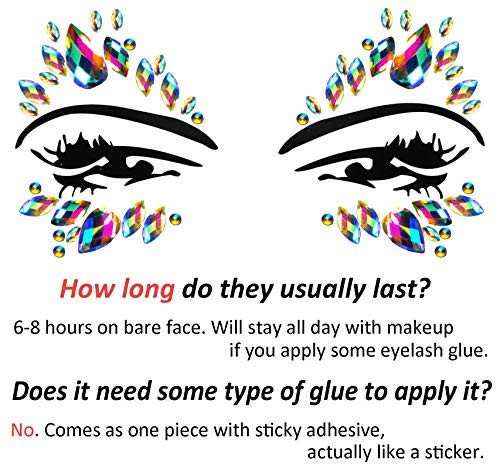 Festival Clothing Rave Accessories Face Jewels Gems Stickers