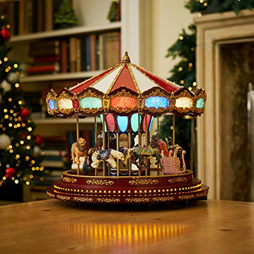 Mr. Christmas Marquee Deluxe Carousel, One Size, Multicolor