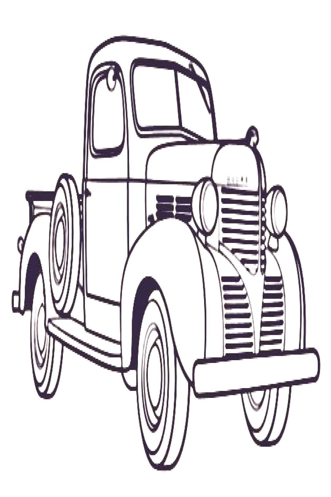 Printable Antique Cars Coloring Pages -