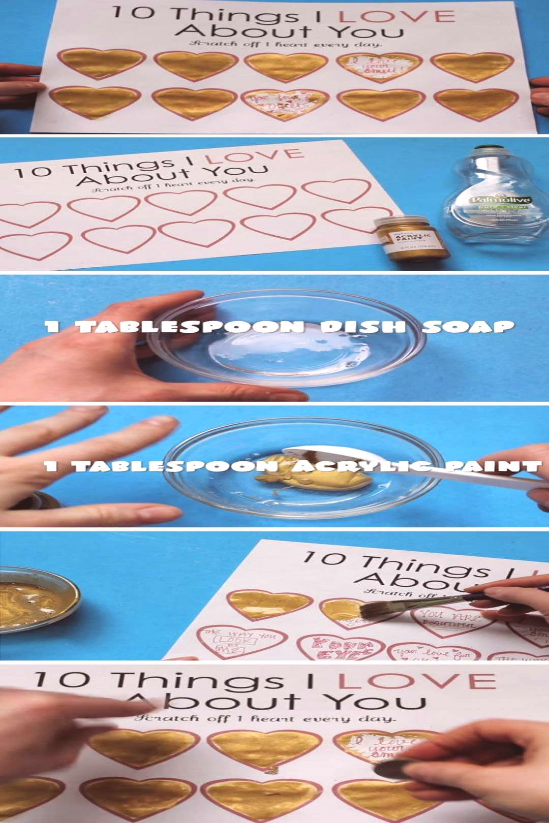 Scratch Off Hearts | DIY Valentines Cards for Him | DIY Valentines Cards for Boyfriends The Birthda