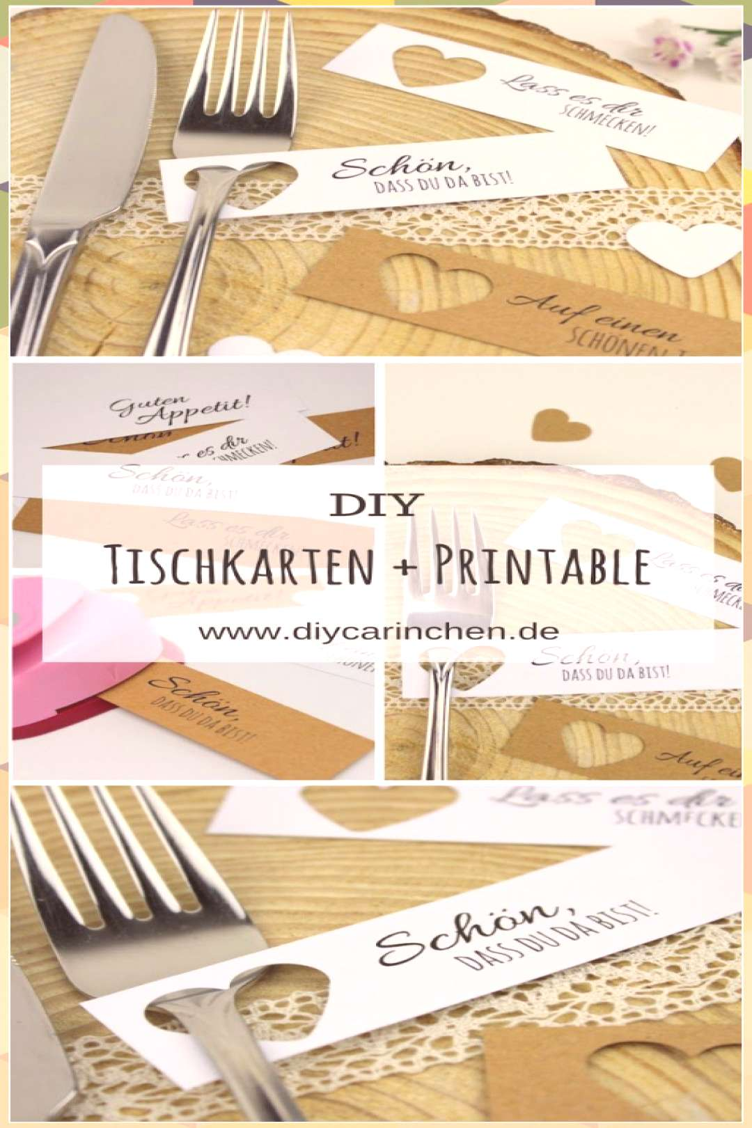 Simply make DIY place cards yourself + free templates - wedding decorating fashion gifts flowers ha